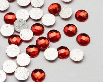 100 St À Facettes cabochons perles-pierres 9x3 mm pour collage ou à coller
