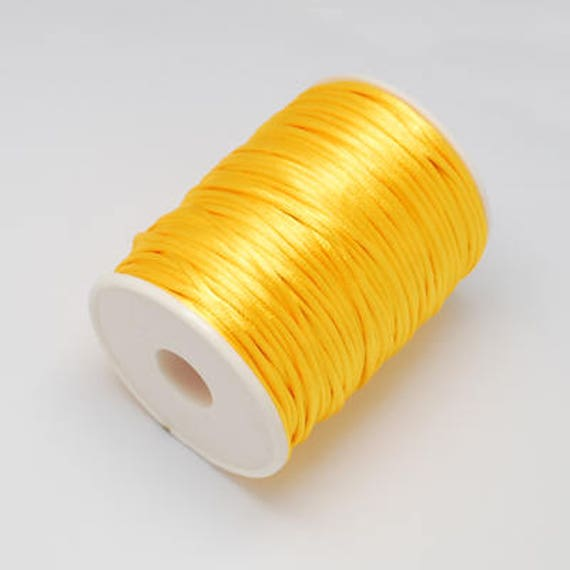 Cola De Rata De 2 Mm X 5 Metros Orange satén Cable