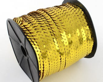 Sequins beads lace Gold 6 mm