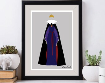 Disney Villain The Evil Queen Poster/Print - minimalist snow white evil queen poster art decor