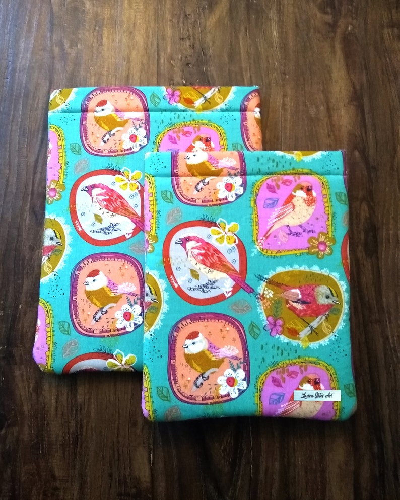 Bird Book Sleeve - Standard size kindle size book sleeve birds protect book  accessories