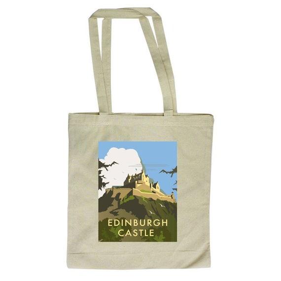 Thompson Travel Uk: Edinburgh Castle Tote Bag Travel Art Dave Thompson