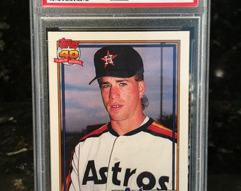 014b3568b1 1991 Topps Traded Jeff Bagwell ROOKIE RC #4T - Graded Authenticated Encased  - Perfect Psa 10 Grade - Hall of Fame