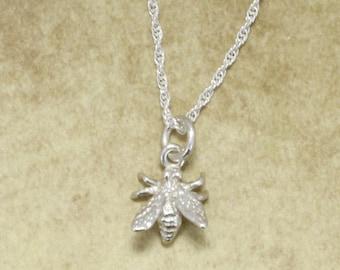 Honey Bee Jewelry, 925 Sterling Silver Honey Bee Necklace, Beekeeping gift,beekeeper,gardener gift,birthday gift for her, Bee necklace,