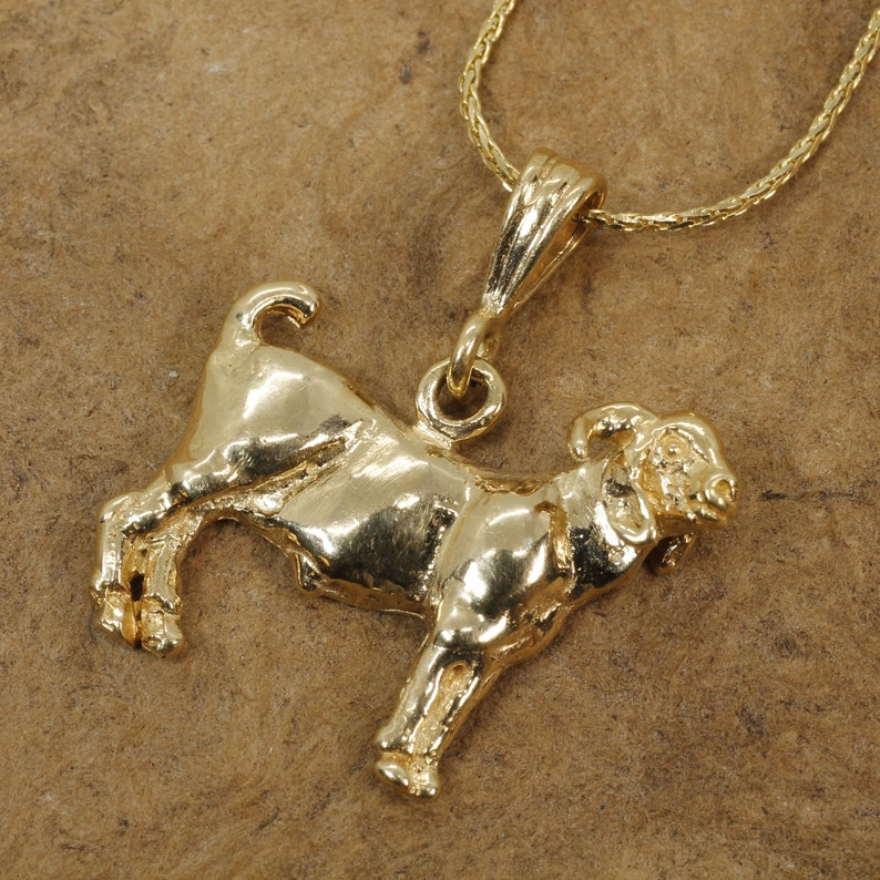Goat Charm for her with a 14kt Solid Gold Boer Goat Charm ON SALE For $60.00 OFF