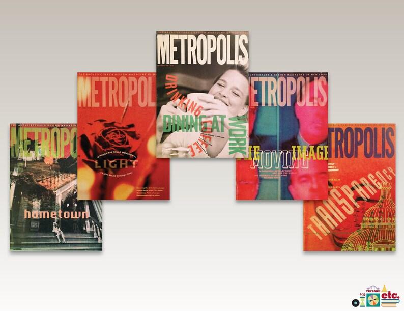 1980s Metropolis Magazine, Architecture, Design, Furniture, Interiors,  Graphic Design, Media, Oversize, Culture, Back Issues, Rare, Vintage