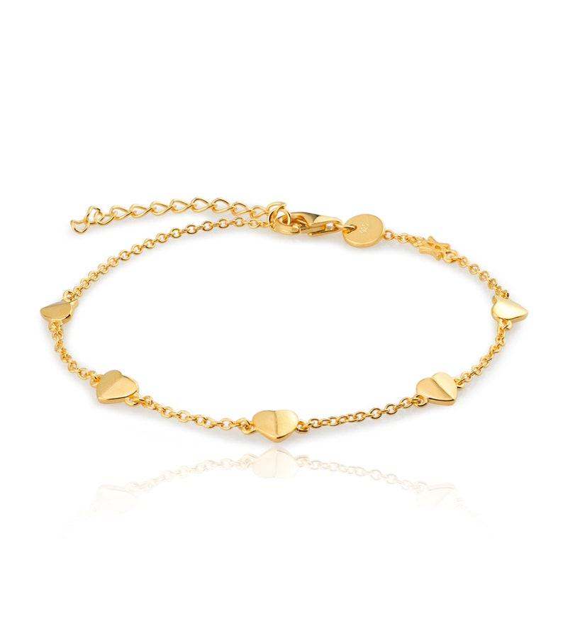 hearts chain bracelet multi hearts chain bracelet hearts bracelet valentine/'s bracelet love chain bracelet
