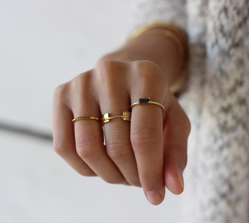set of 3 stack rings perfect gift MINIMALIST JEWELRY gold rings fashion rings Stacking SILVER rings minimal rings