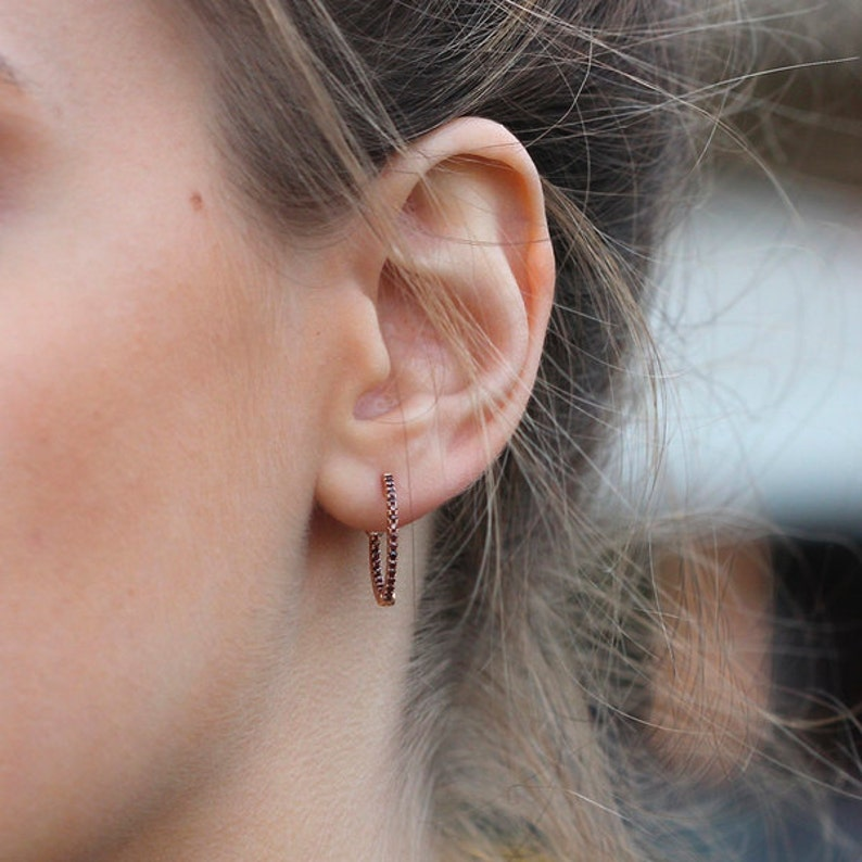 pink gold hoops