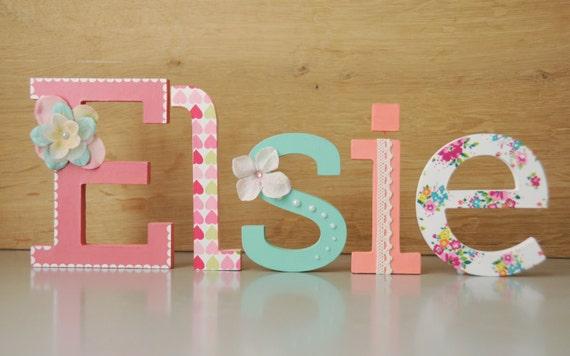 Lettere Di Legno Da Appendere : Bambini nome lettere parete contemporanea lettere in legno bianco