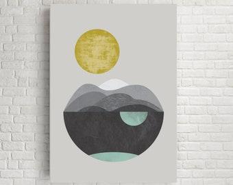 Dunes, giclee art print, abstract art, watercolour print, geometric art, minimalist print, scandinavian art, geometric print, giclee print