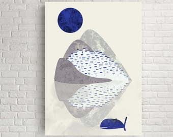 Wall art, wall art print, wall decor, wall poster, wall print, landscape print, abstract landscape, abstract print,  abstract art, Santorini