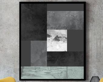 Black and white print, large print, nordic print, Black art, black and white art, grey art, grey prints, scandinavian design, grey wall art