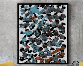 Feelings, abstract art print, minimalist poster, living room art, contemporary art, watercolor art, modern art print, textured art, wall art