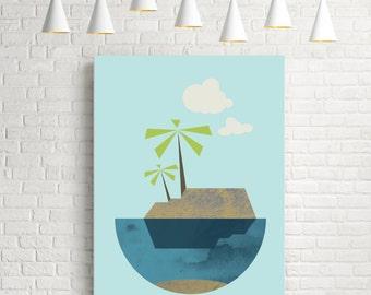 Isle, modern art, mid century modern, modern wall art, home art, modern abstract art, wall art, modern prints, art prints, home decor art