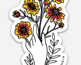 Indian Blanket Bouquet Sticker
