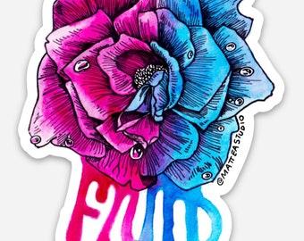 FLUID Rose Sticker