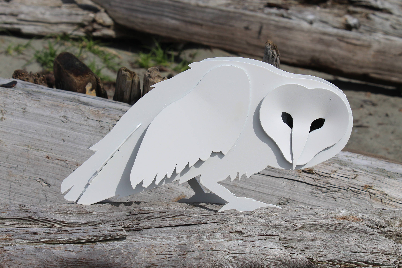 Free Shipping!, Garden Owl, Steel Owl Sculpture, Iron Art, Snowy, Barn Owl, Garden  Sculpture, Metal Bird, Owl Yard Decor, Bitcoin, Statue