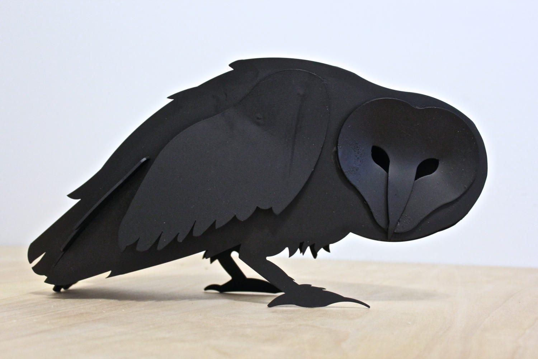 Exceptionnel Garden Owl, Steel Owl Sculpture, Iron Art, Snowy, Barn Owl, Barred Owl,  Statue, Bird Wildlife, Metal Bird, Yard Art, Crow, Bitcoin Accepted