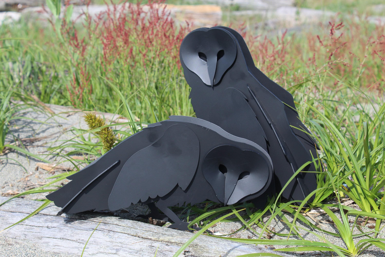 Free Shipping!, Steel Owl Sculpture, Welded Garden Sculpture, Metal Art, Garden  Owl, Full Size, Barn, Snowy, Bird Figurine, Statue, Bitcoin