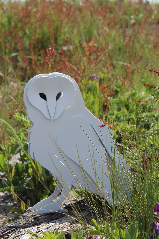 Free Shipping!, Snowy Owl Sculpture, Metal Barn Owl, Garden Art, Garden  Ornament, Full Size Owl, Snow Owl, Figurine, Sculpture, Yard Art