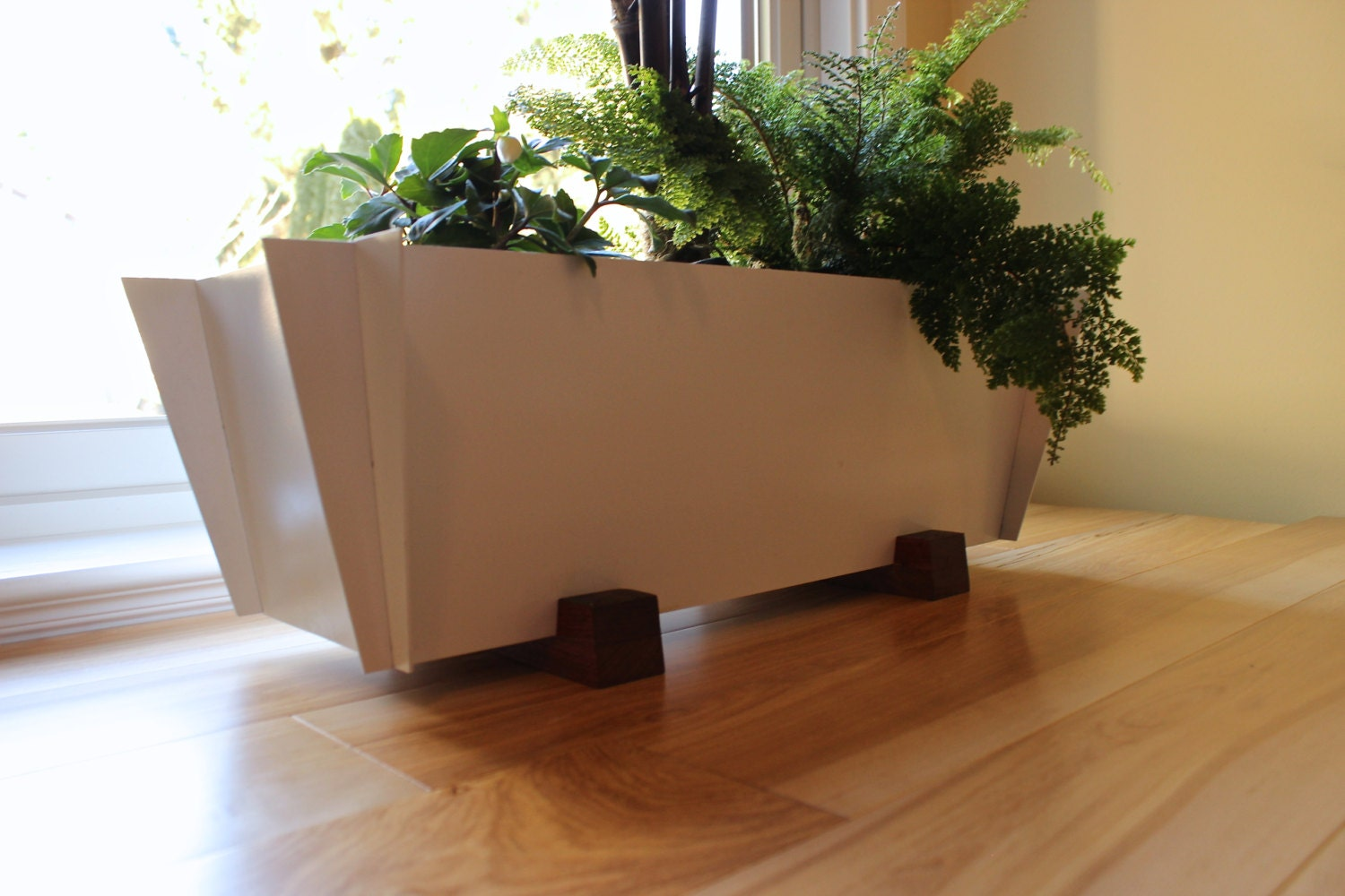 Free Shipping!, Modern Planter, Contemporary Herb, Steel and Wood ...