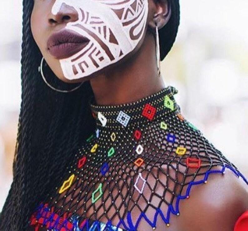 Layered Zulu beaded necklace