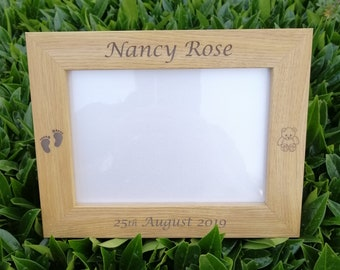 Personalised New Born Baby, Photo Frame, Personalised Picture Frame. Baby Gifts, Christening Gifts.