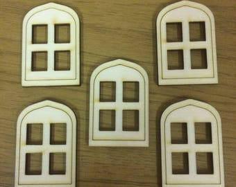 Packs of Birch Wood Fairy House Windows, Elf Windows, Pixie Windows. ***Now Available in 3 sizes****