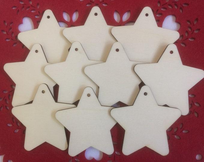 Wood Star Decorations.