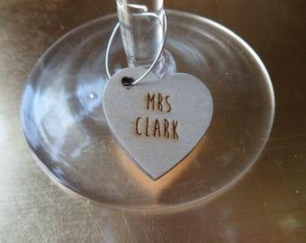 Personalised Wedding Glass Charm