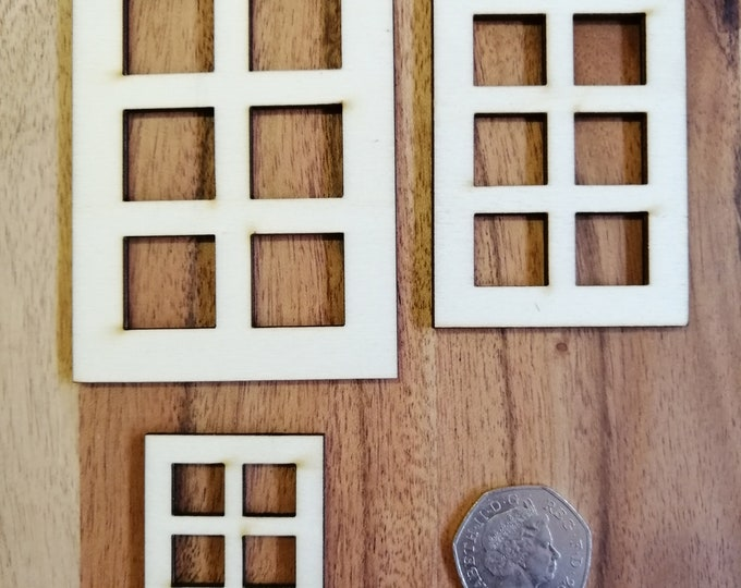 Wood Craft Rectangle Six Pane Model Windows.