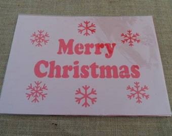 Merry Christmas Stencil, Snow flake Stencil, Mylar Stencils