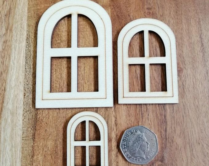 Wood Craft Arched Windows.