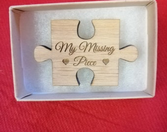 My Missing Piece, Oak Effect, Jigsaw Puzzle Piece, Valentines Gifts
