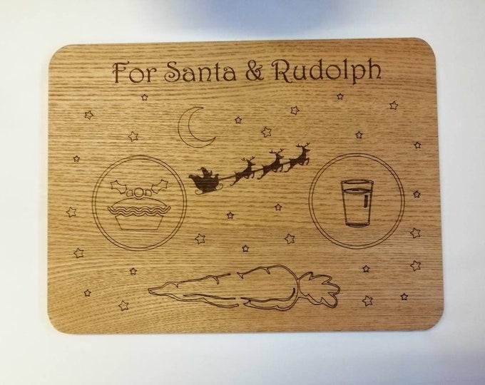 Santa & Rudolph Treat Christmas Eve Board.