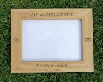 Personalised Wedding Photo Frame.