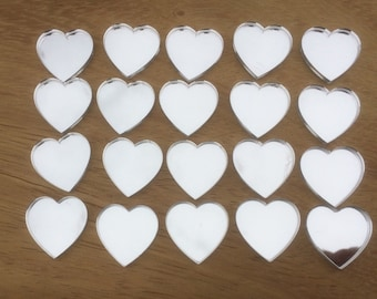 Heart Mirror Acrylic Table Confetti, Pack of 20 Hearts, Wedding Table decor, Wedding Confetti.