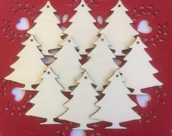Wood Christmas Tree Decorations.