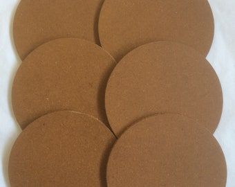 Recycled Leather Coasters, Pack of 6, Leather Blanks, Kitchenware, Tableware, Coasters, Craft Coasters