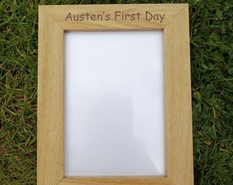 Personalised First Day At School Photo Frame.