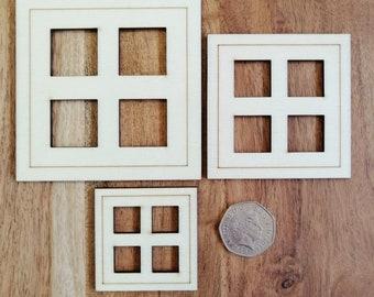Wood Craft Square Model Windows.