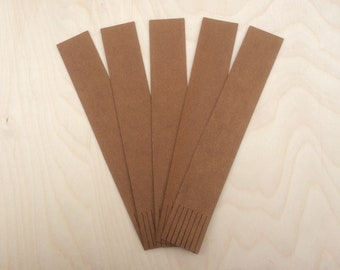 Recycled Bookmarks, Leather Blanks,
