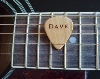 Personalised Cherry Wood Guitar Pick
