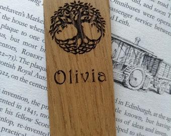 Celtic Tree of Life Engraved Oak Bookmark.