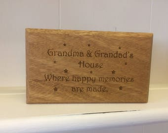 Personalised Wood Plaque, Stand alone wood plaque.