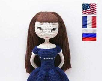 """PATTERN Doll """"Britney"""", crochet doll, amigurumi doll, amigurumi PDF pattern, doll pattern, Instant download"""