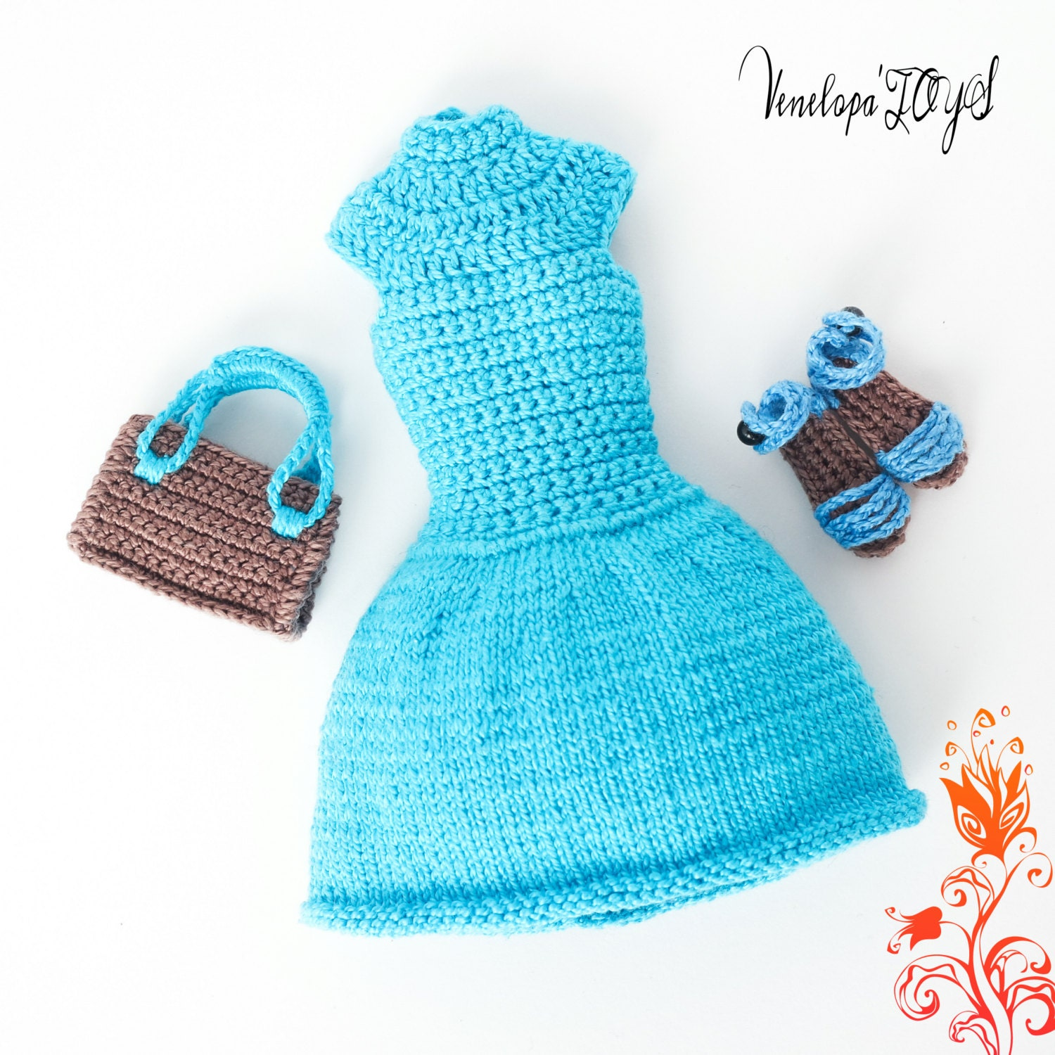 Pattern Dress Sandals A Bag Crochet Clothes For Etsy