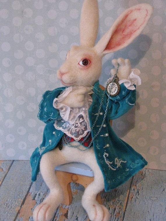 White Rabbit speelgoed Alice in Wonderland Needle voelde   Etsy