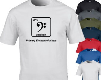 a0142744d8 Bassinium Element Periodic Table Pun, Funny T-Shirt Design. Perfect for  Bassist or Musician